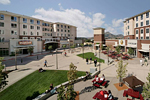 Cal Ply Village courtyard